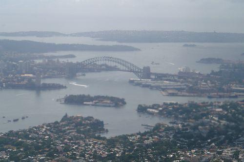 シドニーに着陸直前